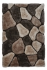 Noble House Nh5858 Beige/brown Shaggy Hand Tufted Rug - 70% Acrylic 30% Polyester
