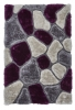 Noble House Nh5858 Grey/purple Shaggy Hand Tufted Rug - 70% Acrylic 30% Polyester