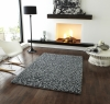 Pebbles Grey Shaggy Hand Knotted Rug - 100% Wool