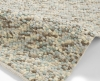 Pebbles Light Blue Shaggy Hand Knotted Rug - 100% Wool