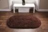 Rainbow Brown Shaggy Machine Sewn Rug - 100% Acrylic