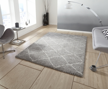 Royal Nomadic 5413 Grey/cream Modern Machine Made Rug - 100% Polypropylene