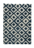 Royal Nomadic 5456 Blue/beige Modern Machine Made Rug - 100% Polypropylene