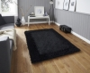 Sable 2 Black Shaggy Hand Tufted Rug - 100% Viscose