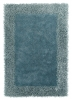 Sable 2 Light Blue Shaggy Hand Tufted Rug - 100% Viscose