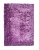 Sable 2 Purple Shaggy Hand Tufted Rug - 100% Viscose