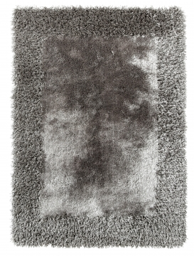 Sable 2 Silver Shaggy Hand Tufted Rug - 100% Viscose
