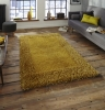 Sable 2 Yellow Shaggy Hand Tufted Rug - 100% Viscose