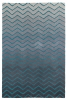 Spectrum Sp22 Grey/blue Modern Hand Tufted Rug - 100% Wool