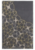 Spectrum Sp37 Grey/yellow Modern Hand Tufted Rug - 100% Wool