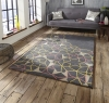 Spectrum Sp37 Grey/yellow/pink Modern Hand Tufted Rug - 100% Wool