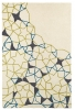 Spectrum Sp37 Ivory/green/blue Modern Hand Tufted Rug - 100% Wool
