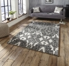 Spectrum Sp83 Grey/silver Modern Hand Tufted Rug - 100% Wool