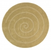 Spiral Gold Circular Hand Tufted Rug - 100% Wool
