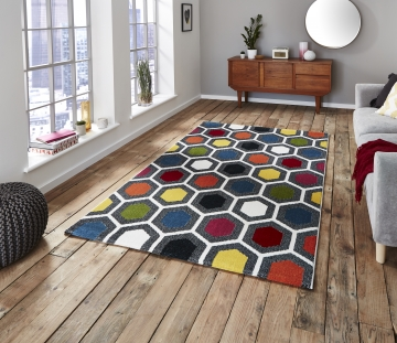 Sunrise 0130a Modern Machine Made Rug - 100% Polypropylene