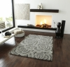 Valentine Vl 10 Light Grey Floral Hand Tufted Rug - 100% Wool