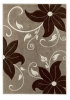 Verona Oc15 Beige/brown Floral Machine Made Rug - 100% Polypropylene