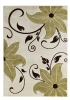 Verona Oc15 Beige/green Floral Machine Made Rug - 100% Polypropylene