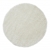 Vista 2236 Cream Circle Shaggy Machine Made Rug - 100% Polypropylene