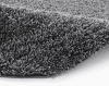 Vista 2236 Dark Grey Circle Shaggy Machine Made Rug - 100% Polypropylene