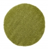 Vista 2236 Green Circle Shaggy Machine Made Rug - 100% Polypropylene