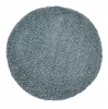 Vista 2236 Teal Blue Circle Shaggy Machine Made Rug - 100% Polypropylene