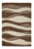 Vista J241 Beige Shaggy Machine Made Rug - 100% Polypropylene