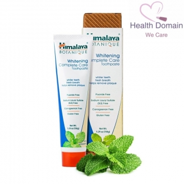 Organic Whitening Toothpaste Complete Care Botanique Simply Peppermint Sls Free