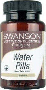 Swanson Water Pills 120 Tablets - For Water Retention, Bloating, Diuretic, Weight Loss