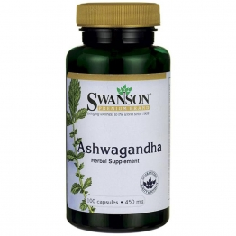 Ashwagandha 450mg X 100 Caps Stress Relief & Energy Boost Supplement - By Swanson
