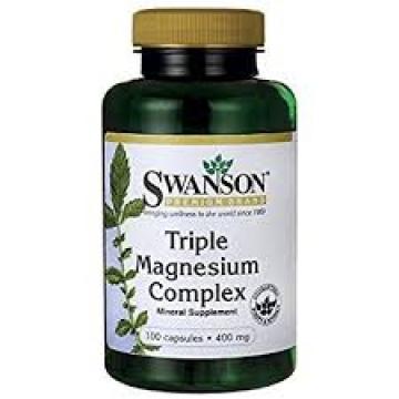 Swanson Triple Magnesium Complex 500 Mg - 100 Capsules