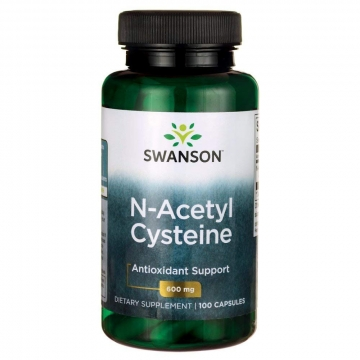 Swanson N-acetyl Cysteine 600mg Antioxidant Support