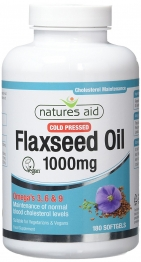 Flaxseed Oil 1000mg To Reduce And Maintain Cholesterol Levels By Natures Aid